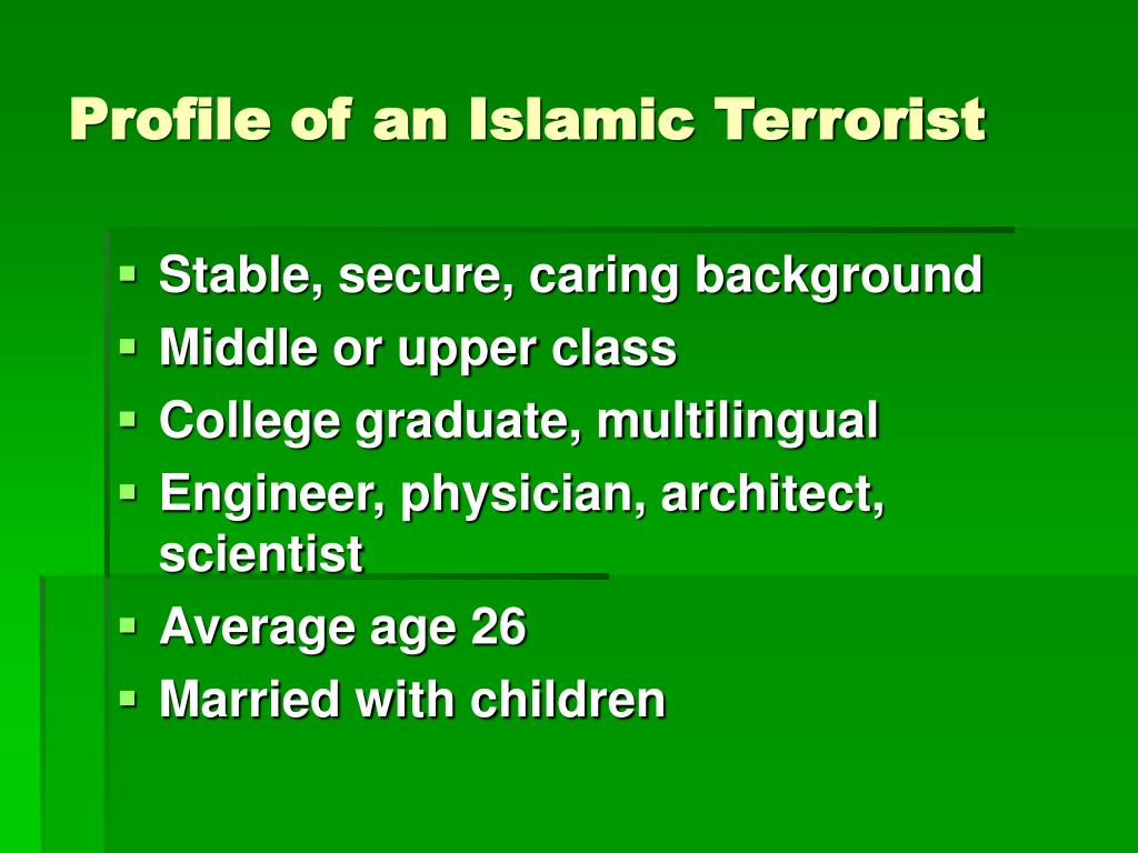 Profile of an Islamic Terrorist
