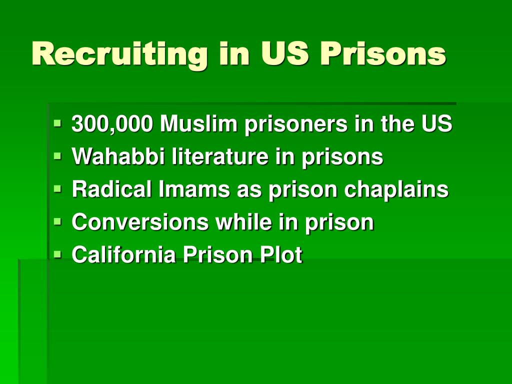 Recruiting in US Prisons