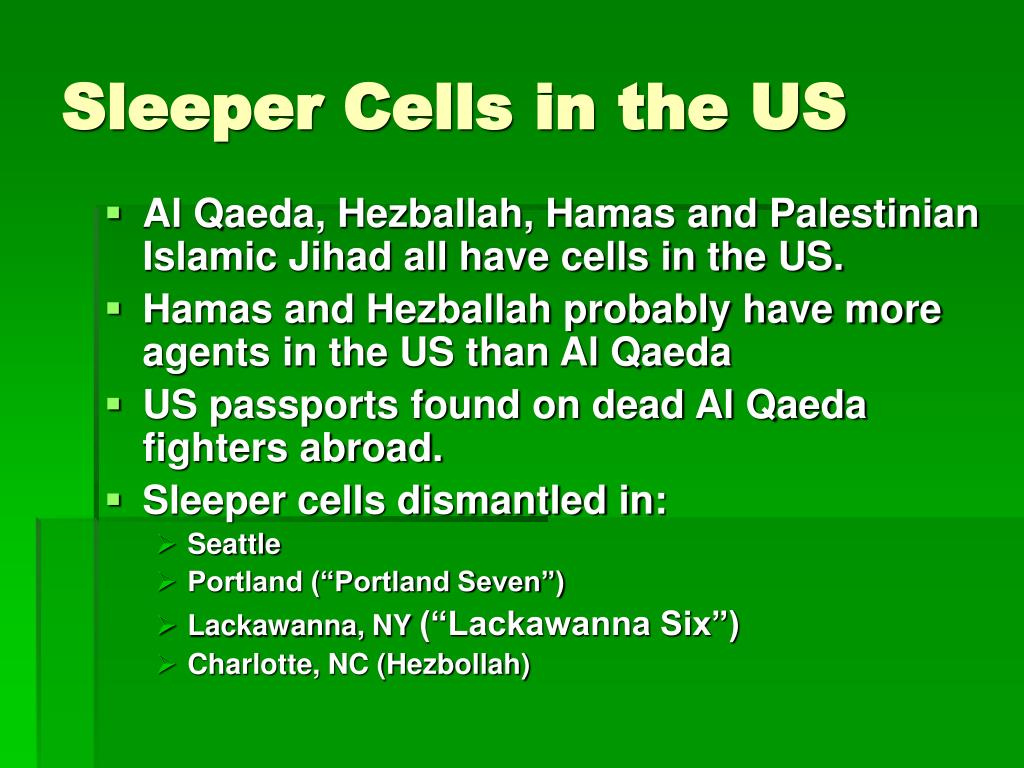 Sleeper Cells in the US