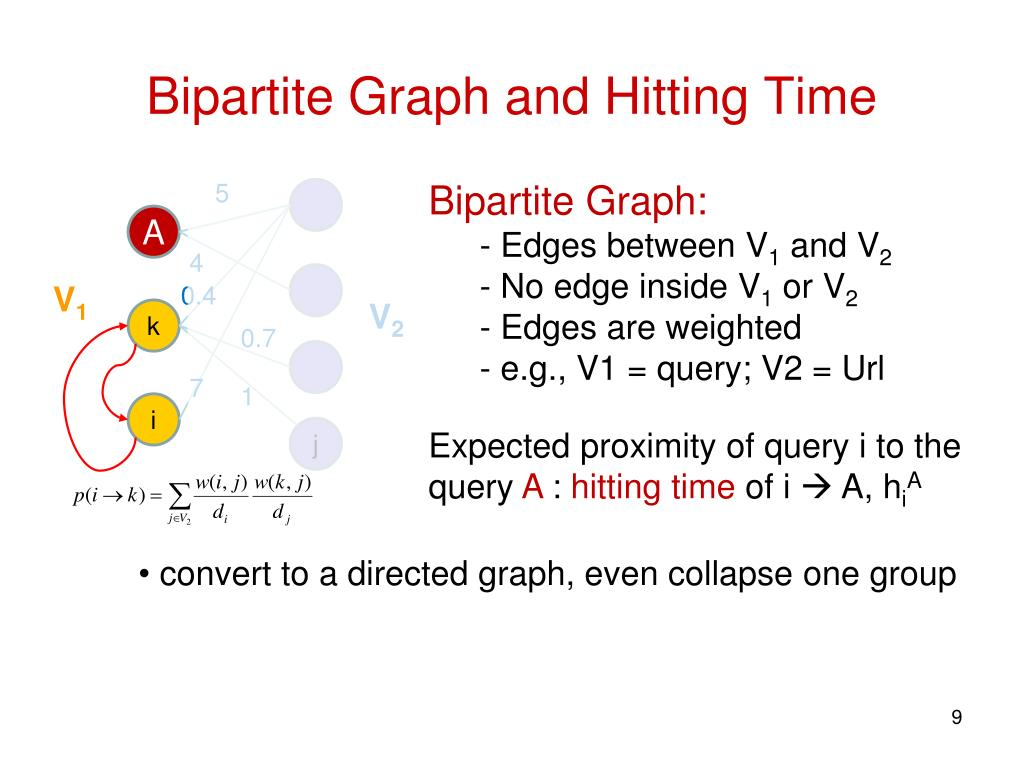 Bipartite Graph and Hitting Time