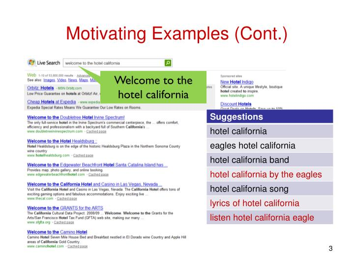 Motivating examples cont