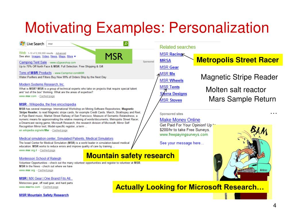 Motivating Examples: Personalization
