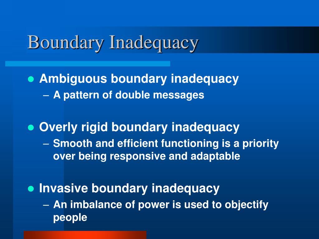 Boundary Inadequacy