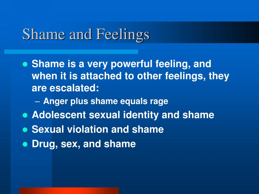 Shame and Feelings
