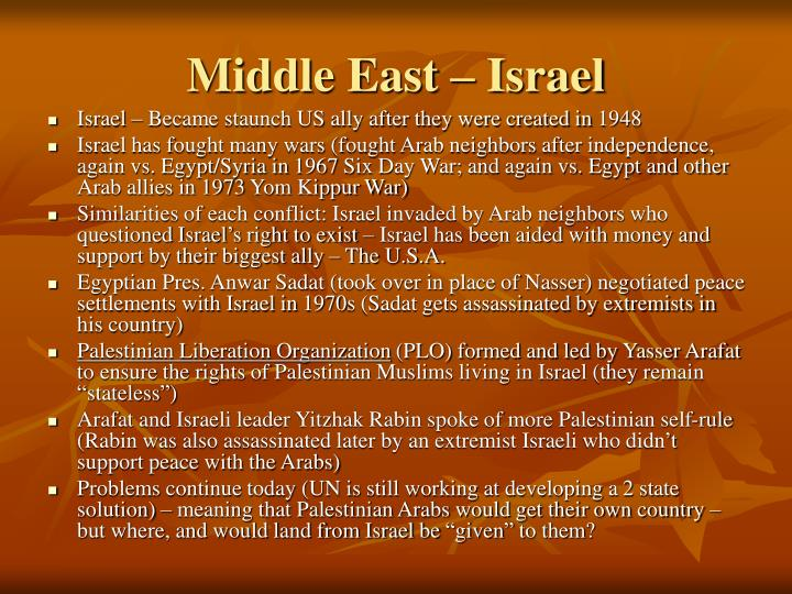 Middle East – Israel