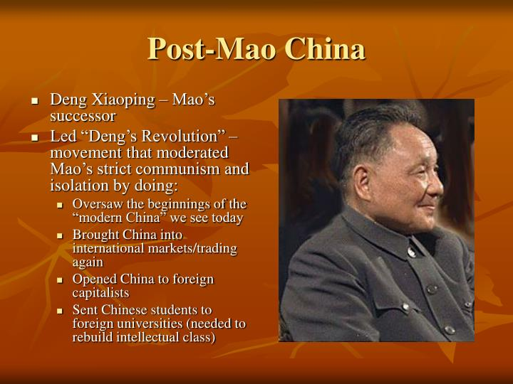 Post mao china