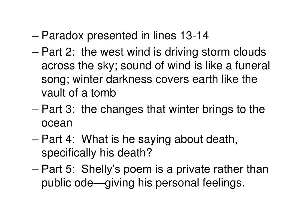 Paradox presented in lines 13-14