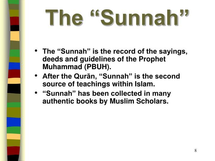 """The """"Sunnah"""""""