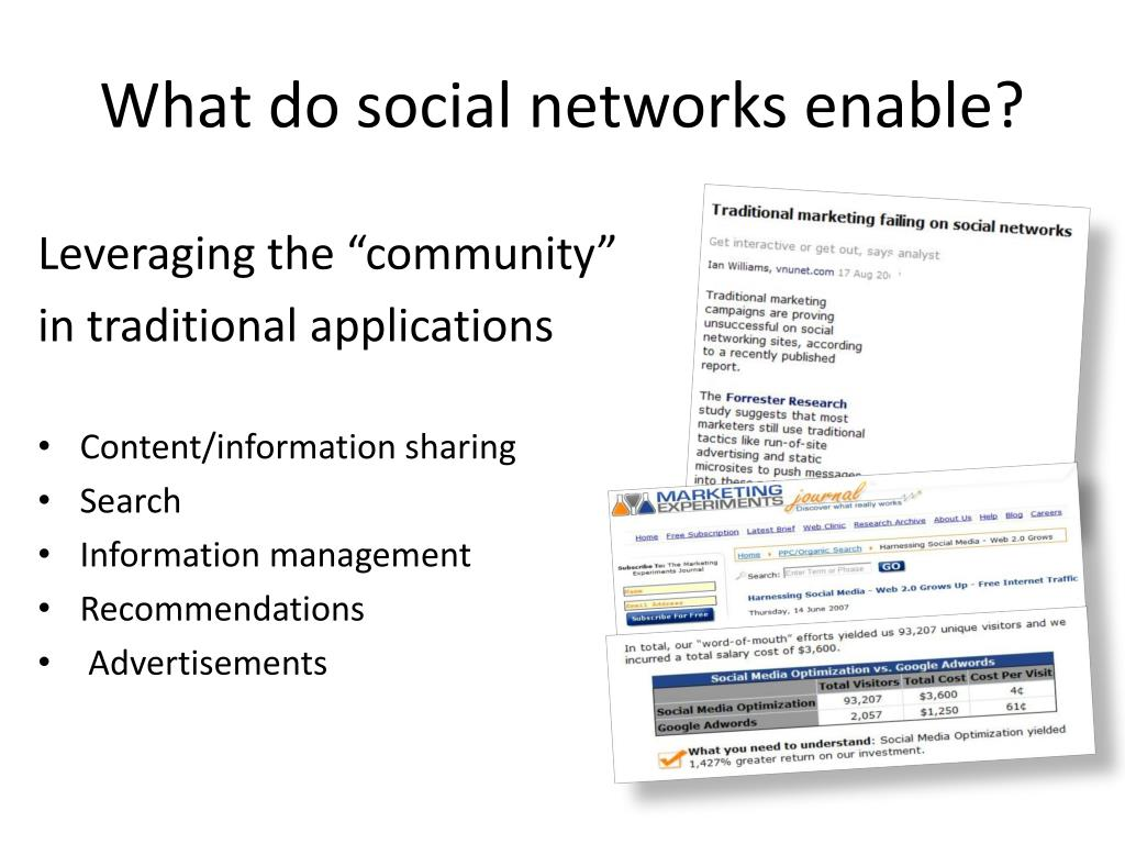 What do social networks enable?