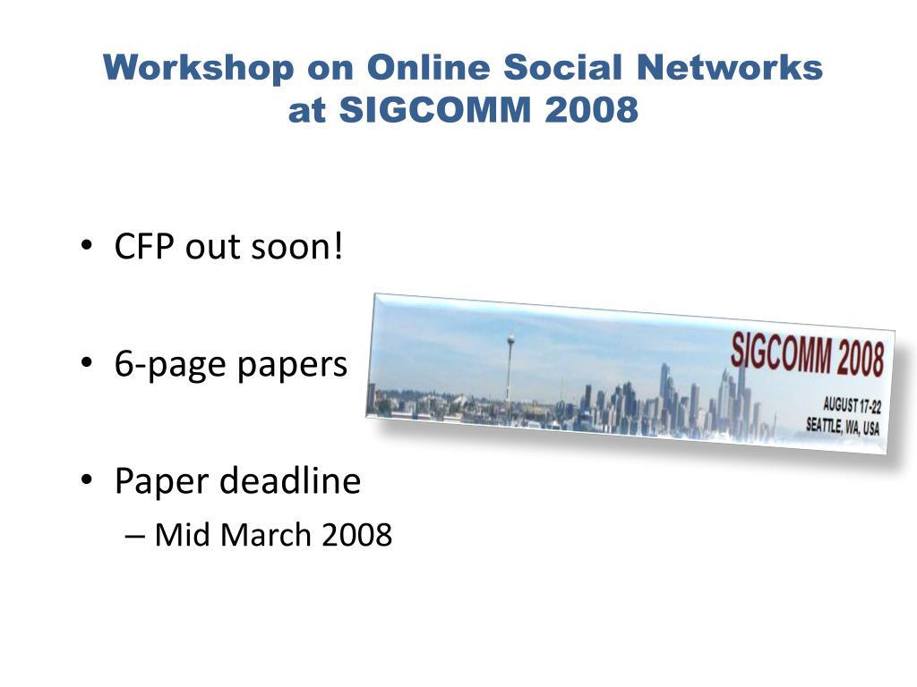 Workshop on Online Social Networks
