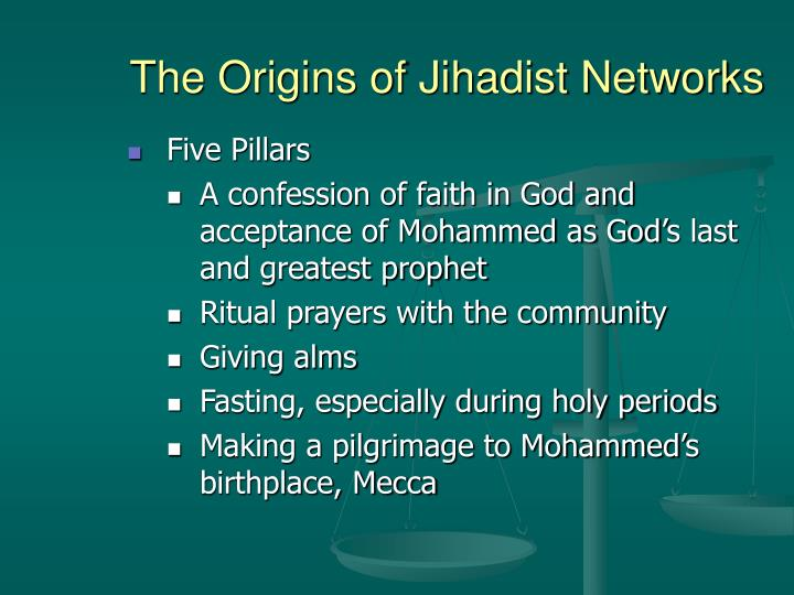 The Origins of Jihadist Networks