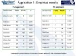 application 1 empirical results24