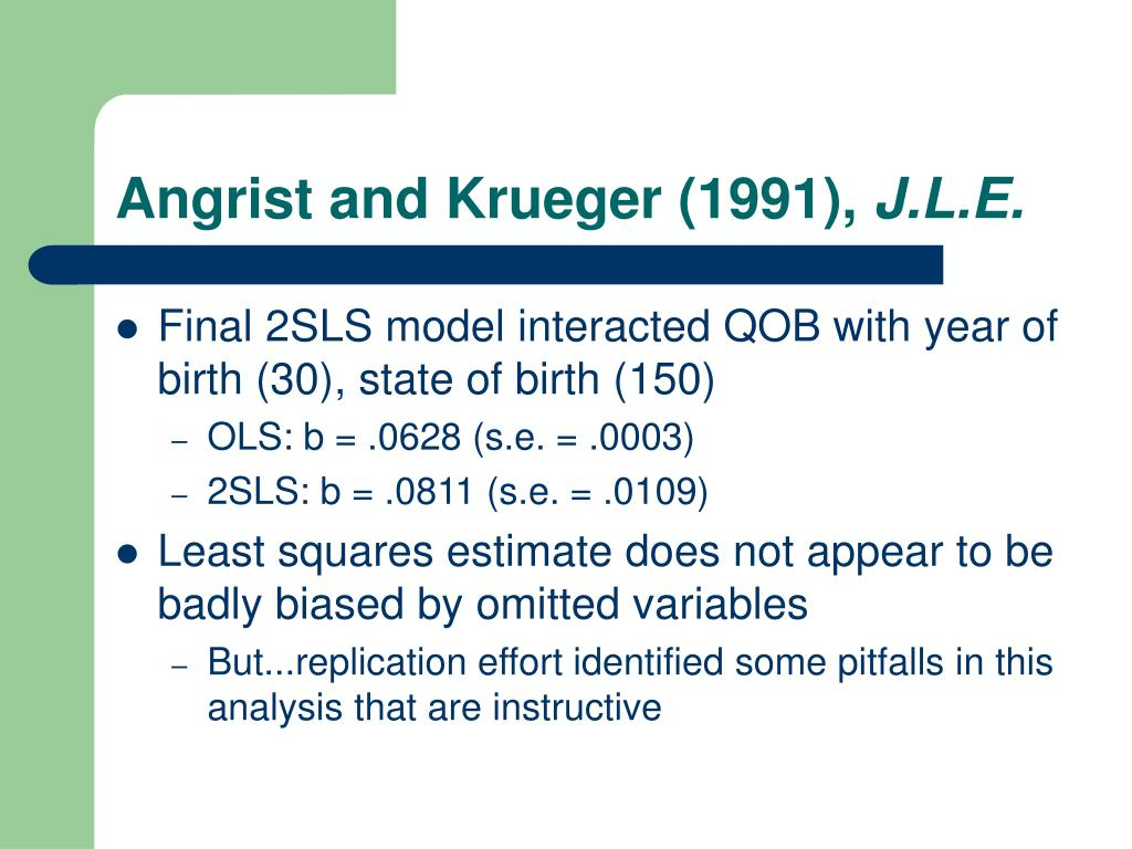 Angrist and Krueger (1991),