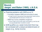 bound jaeger and baker 1995 j a s a