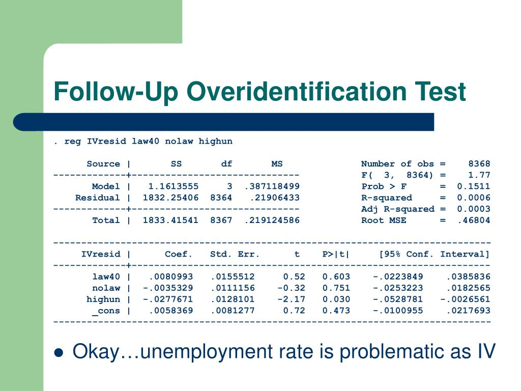 Follow-Up Overidentification Test