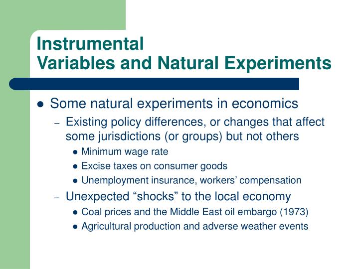 Instrumental variables and natural experiments3