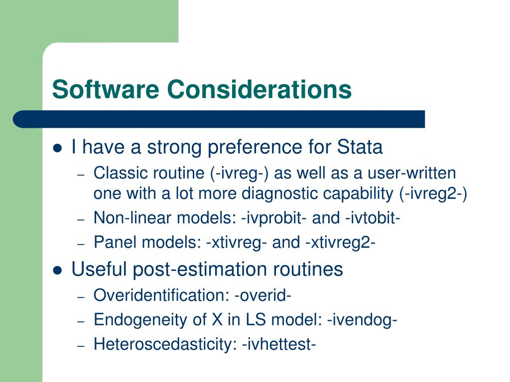 Software Considerations