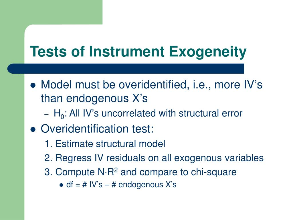 Tests of Instrument Exogeneity