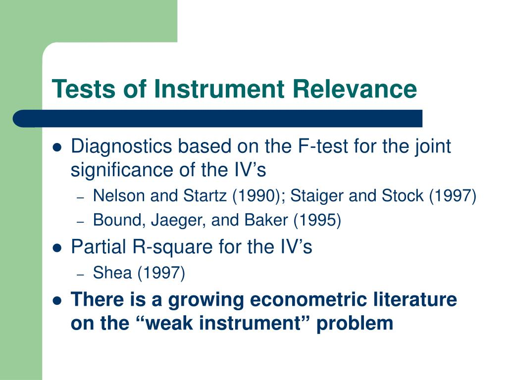 Tests of Instrument Relevance