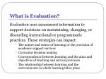 what is evaluation