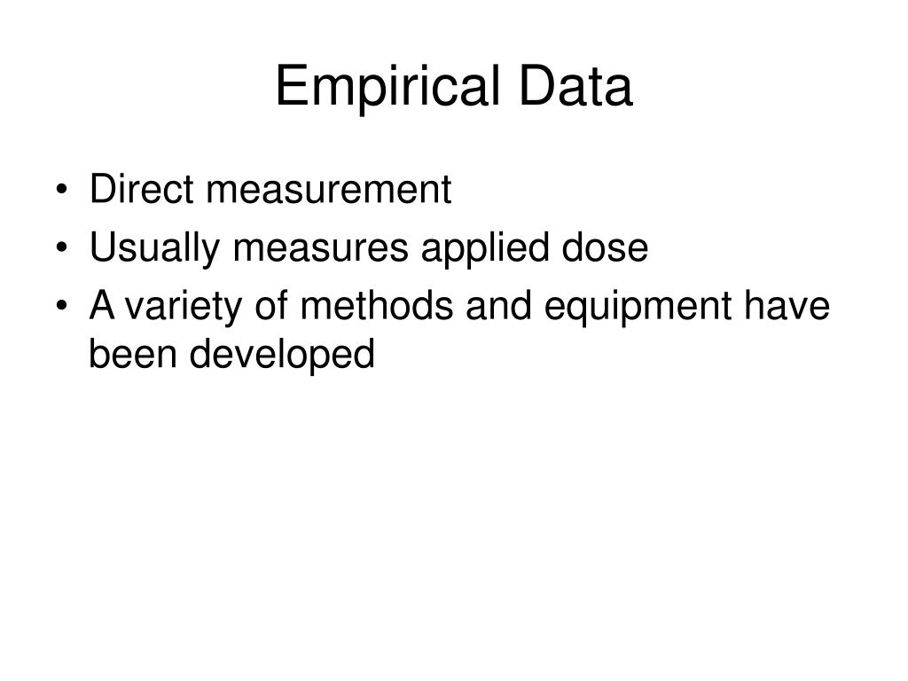 Empirical Data