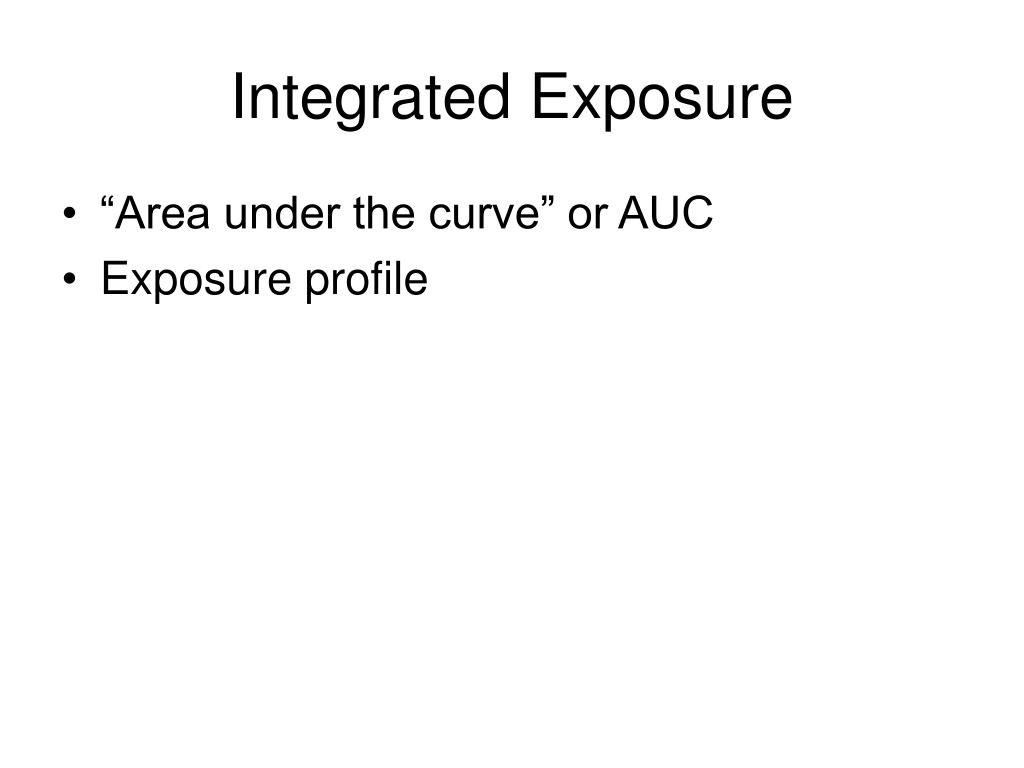 Integrated Exposure