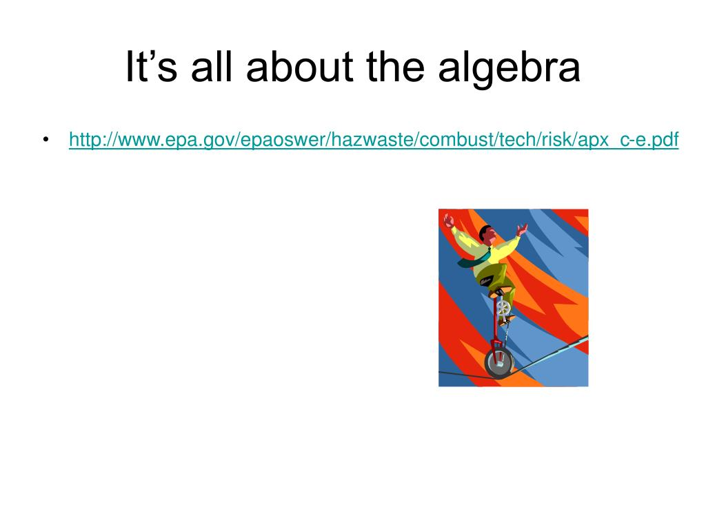 It's all about the algebra