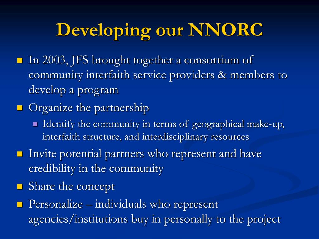 Developing our NNORC
