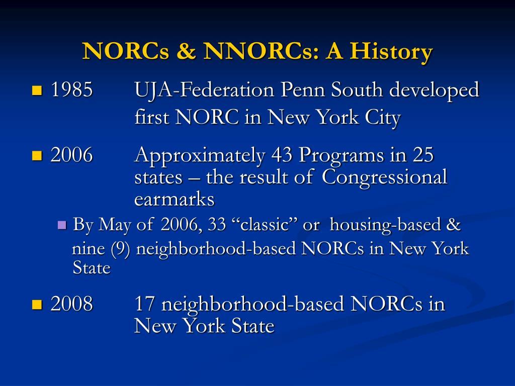 NORCs & NNORCs: A History