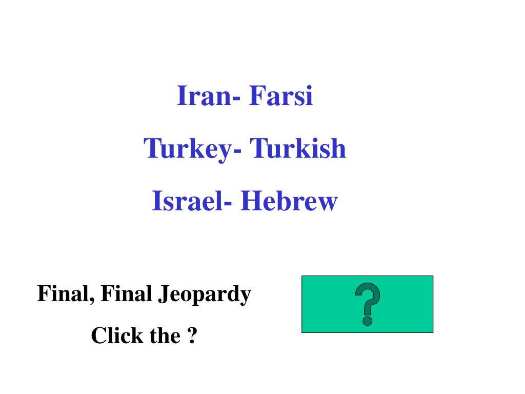 Iran- Farsi
