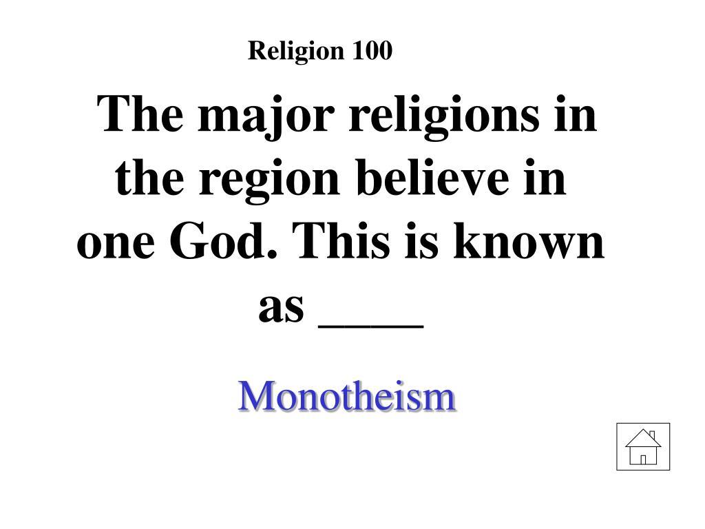 Religion 100