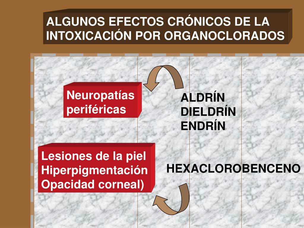 ALGUNOS EFECTOS CRÓNICOS DE LA