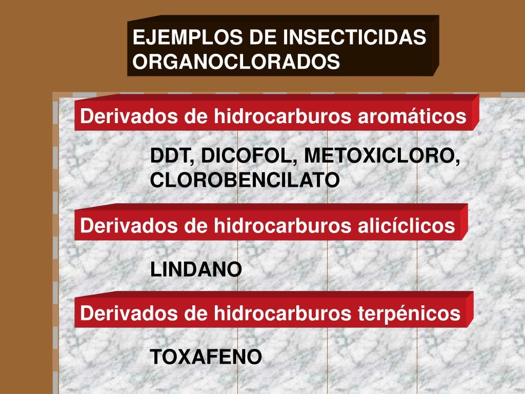 EJEMPLOS DE INSECTICIDAS