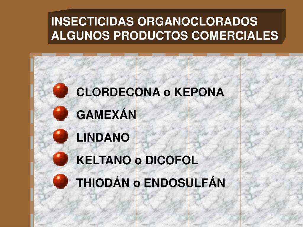 INSECTICIDAS ORGANOCLORADOS