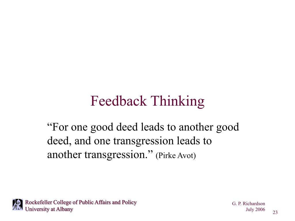 Feedback Thinking