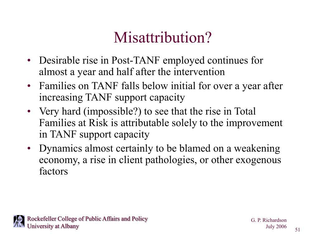 Misattribution?