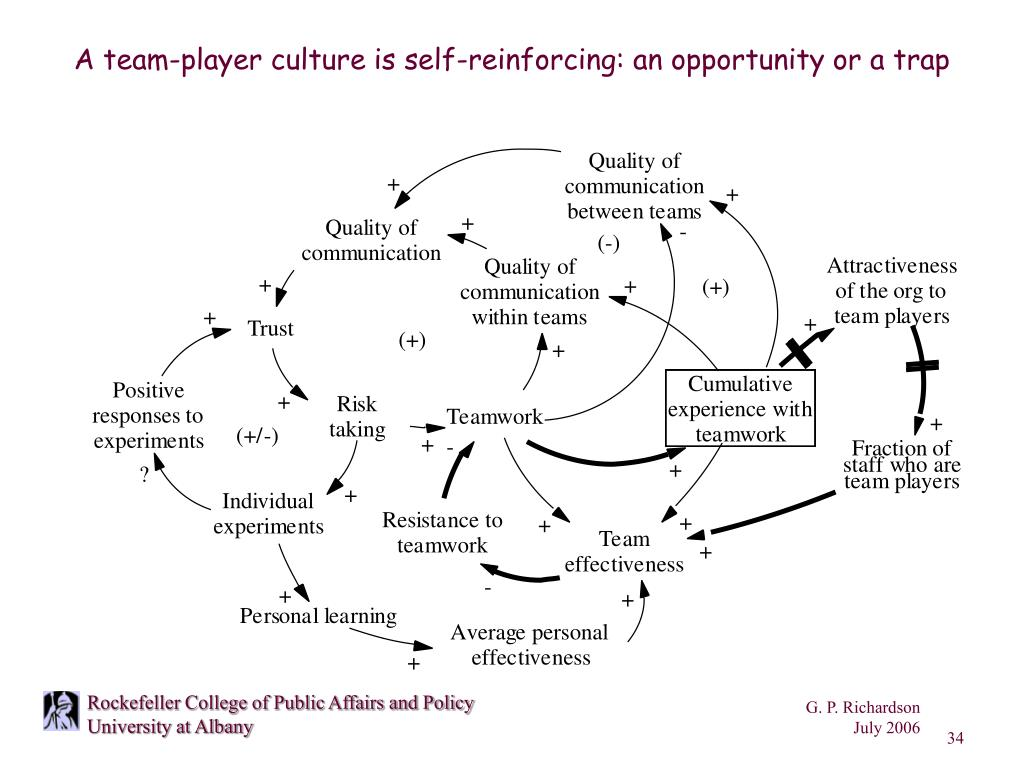 A team-player culture is self-reinforcing: an opportunity or a trap