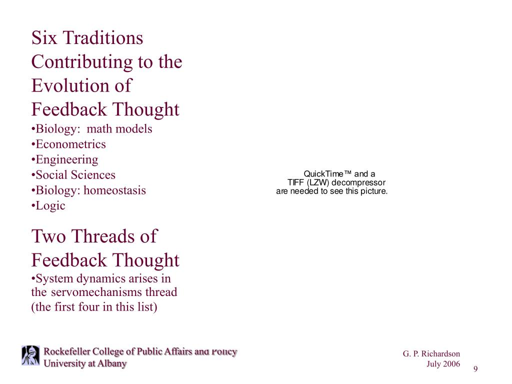 Six Traditions Contributing to the Evolution of Feedback Thought