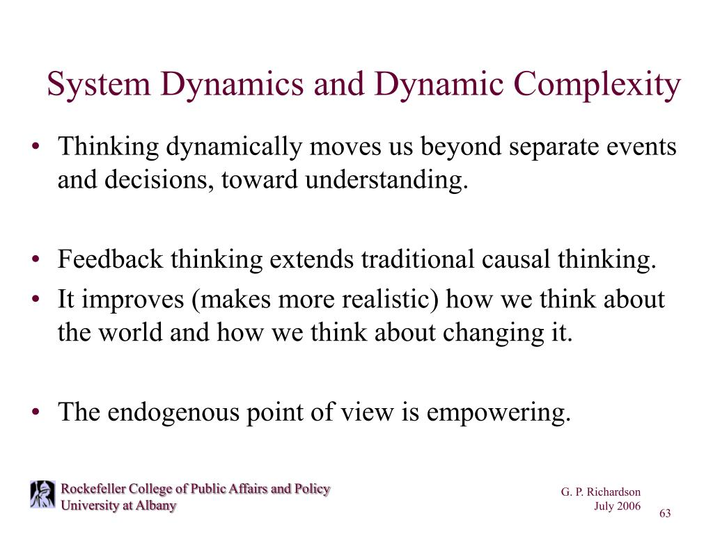 System Dynamics and Dynamic Complexity