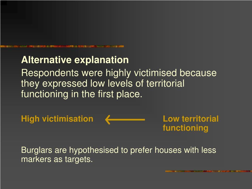 Alternative explanation