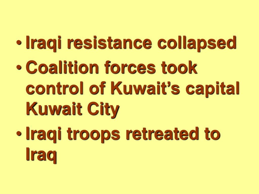 Iraqi resistance collapsed