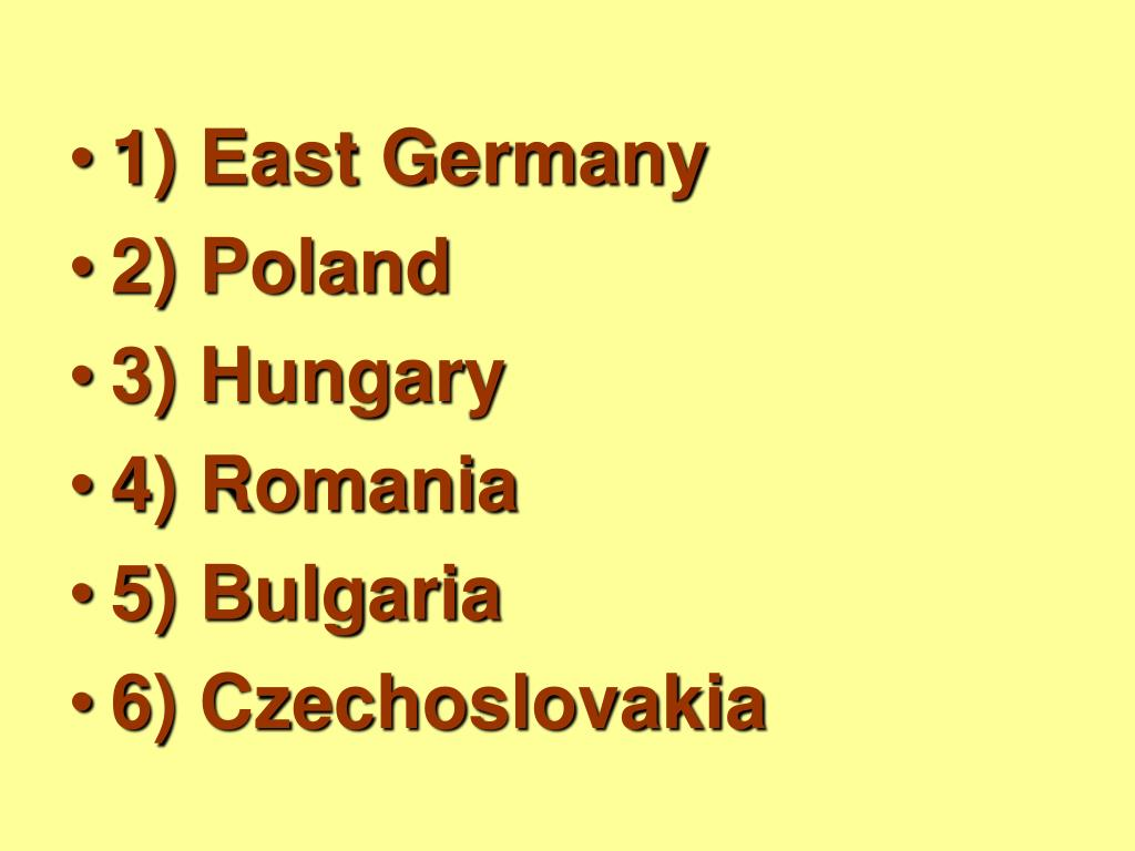 1) East Germany