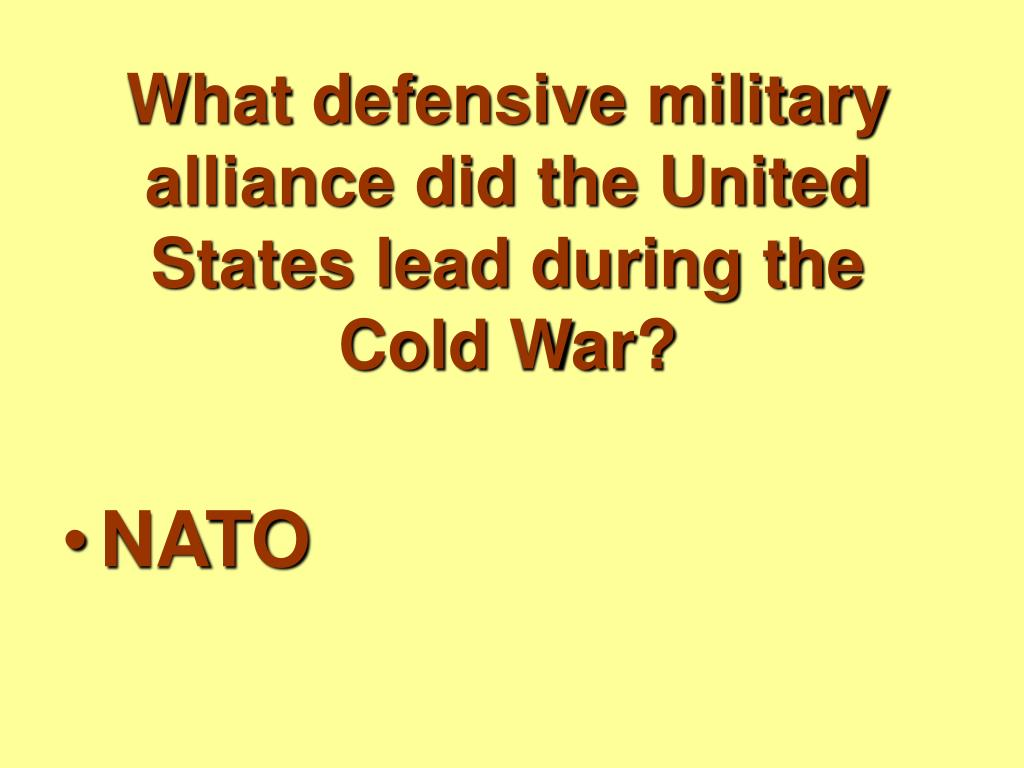 What defensive military alliance did the United States lead during the