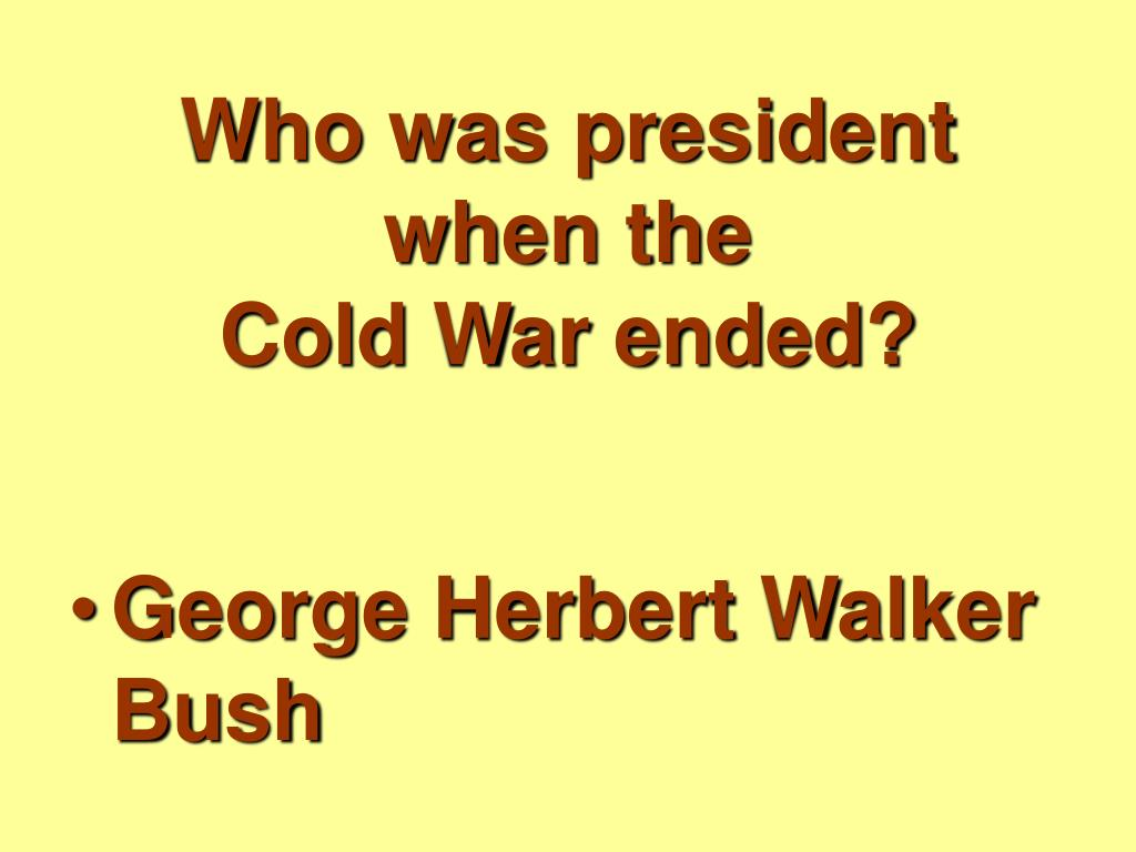 Who was president when the