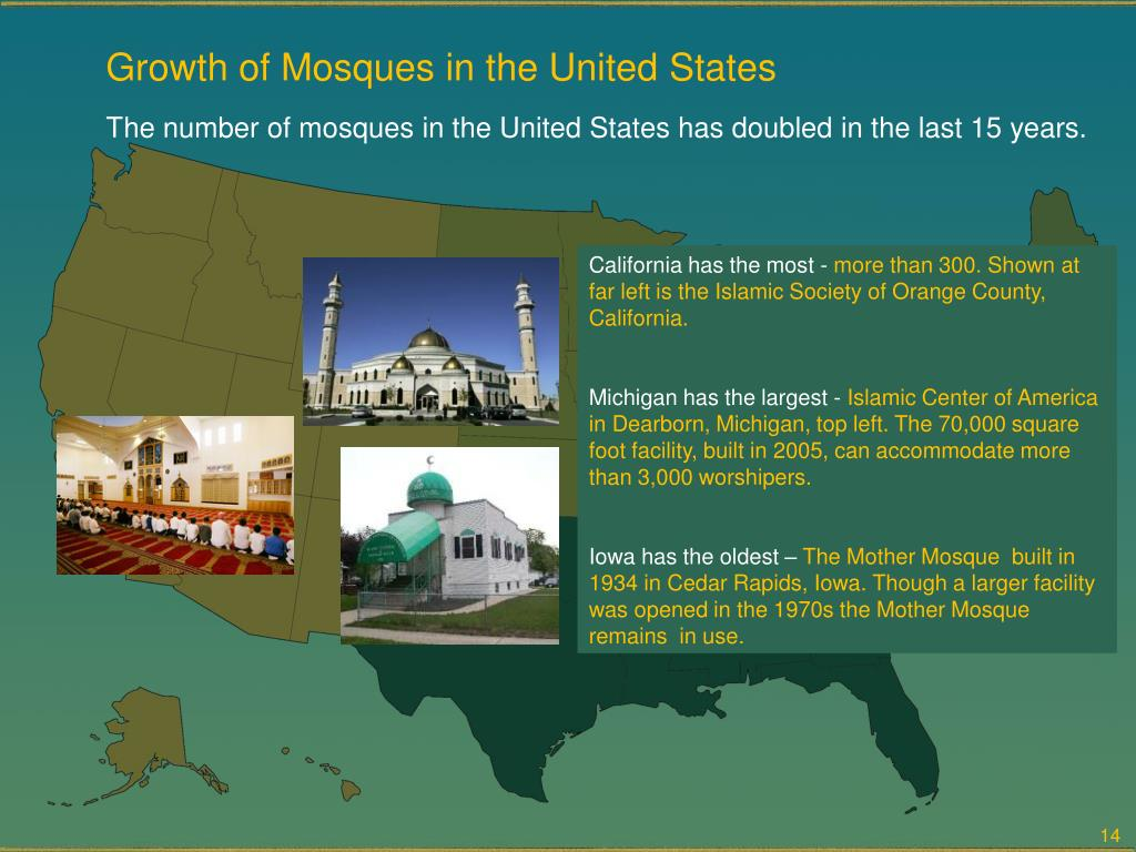 Growth of Mosques in the United States