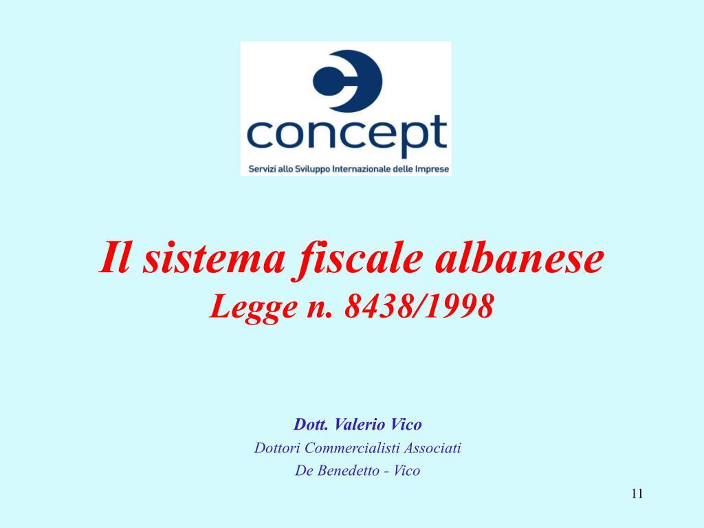 Il sistema fiscale albanese