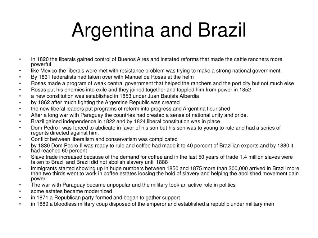 Argentina and Brazil