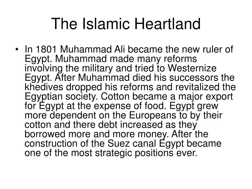 The Islamic Heartland