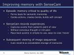 improving memory with sensecam5