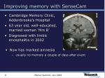 improving memory with sensecam6